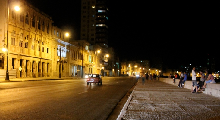 Havana Malecon at night
