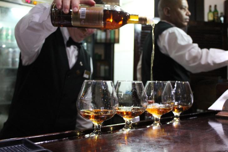 Pouring Havana Club
